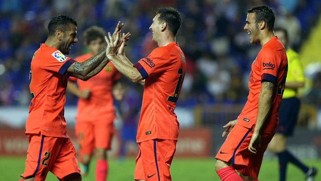 Messi scored againt Levante and also provided two assists / PHOTO: MIGUEL RUIZ - FCB