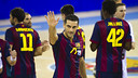 Lazarov, màxim golejador del Barça d'handbol 14/15. FOTO:ARXIU-FCB