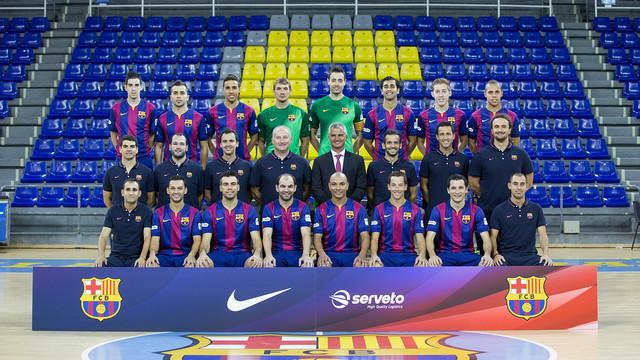 El Barça de futbol sala ja té la foto oficial