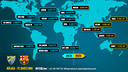 Image of a world map with the match schedules Malaga FC Barcelona league championship / FCB