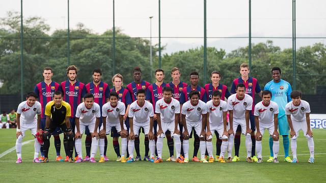 The Barça B v Indonesia U19 match attracted a global audience  / PHOTO: GERMÁN PARGA - FCB