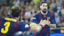 Karabatic and Noddesbo both scored plenty against Cangas / PHOTO: VÍCTOR SALGADO - FCB