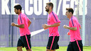 Thursday's training session was intense as always / PHOTO: MIGUEL RUIZ - FCB