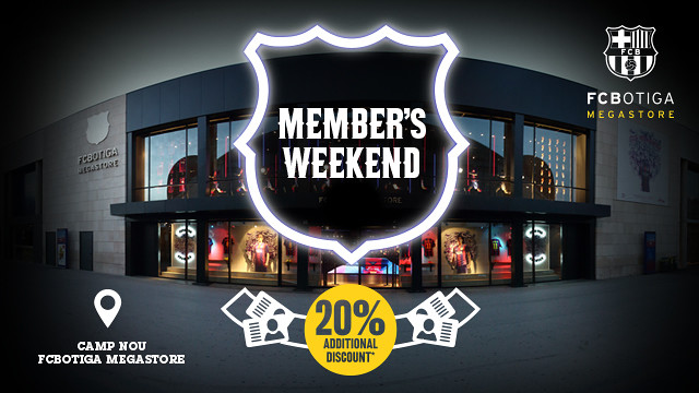 The FCBotiga is offering exclusive members-only discounts this weekend