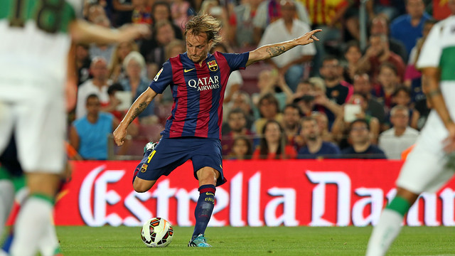 Rakitic will be hoping to help Barça maintain their 100 per cent record at the Camp Nou / PHOTO: MIGUEL RUIZ - FCB