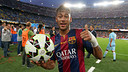 Neymar scored his first league hat-trick against Granada / PHOTO: MIGUEL RUIZ - FCB