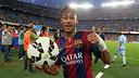 Neymar scored his first league hat-trick against Granada / PHOTO: MIGUEL RUIZ - FCB