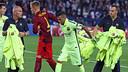 El Barça va estrenar la tercera equipació a París / FOTO: MIGUEL RUIZ - FCB