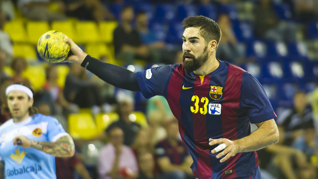 Nicola Karabatic, en un partit al Palau Blaugrana / FOTO: VÍCTOR SALGADO - FCB
