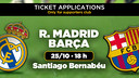 Madrid v FC Barcelona tickets, from October 7