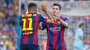 Neymar and Messi: The duo has played some kind of role in 19 of the total 22 goals for the team / PHOTO: MIGUEL RUIZ - FCB