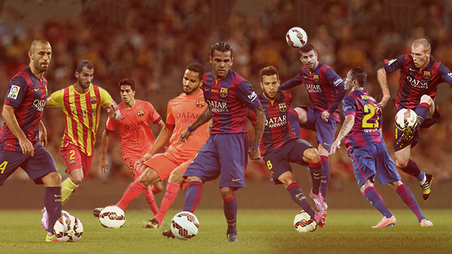 Luis Enrique has used nine defenders in seven differen combinations