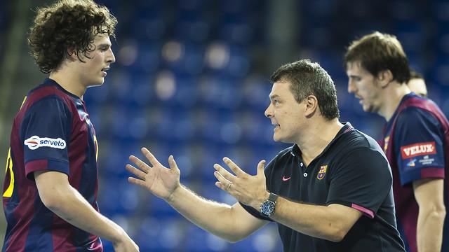 Pascual, l'entrenador de les millors ratxes de triomfs del Barça d'handbol. /FOTO:ARXIU-FCB