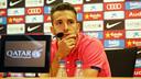 Jordi Alba, en conférence de presse / PHOTO: MIGUEL RUIZ-FCB