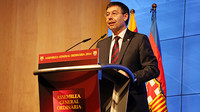 President Josep Maria Bartomeu speaking to delegates