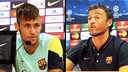 Neymar and Luis Enrique will appear on Monday at midday / PHOTO: FCB