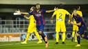 Victòria del Barça B davant l'Alcorcón / FOTO: VÍCTOR SALGADO - FCB