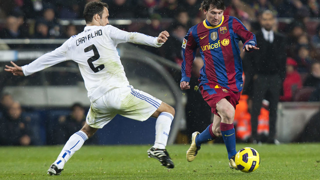 Leo Messi has shown a knack for playmaking in El Clasico. PHOTO: MIGUEL RUIZ - FCB