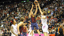 American Brad Oleson chipped in with six points as Barça beat Milan. PHOTO: EUROLEAGUE