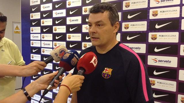 Pascual valorant el sorteig de Copa. / FOTO:FCB