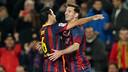 Messi's goal against Almeria has been nominated / PHOTO: MIGUEL RUIZ - FCB