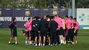 Les joueurs pendan un entrainement / PHOTO: ARXIU FCB