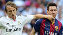 Luka Modric and Leo Messi fought hard in Saturday's Clasico / PHOTO: MIGUEL RUIZ-FCB