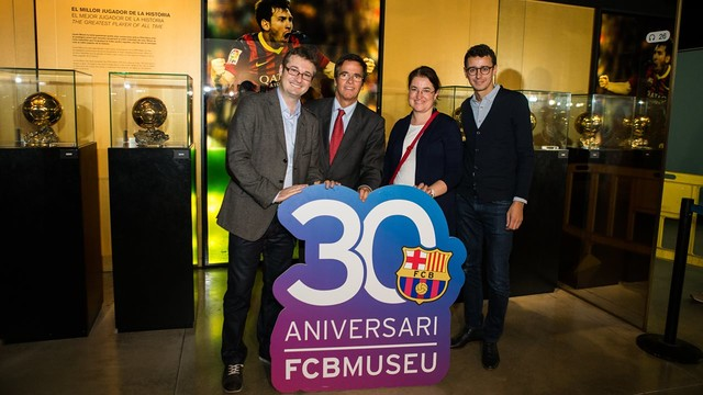 The French guests were clearly impressed with the Museum. PHOTO: GERMÁN PARGA-FCB.