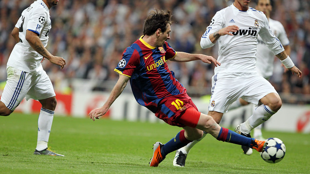 Messi was on target against Real Madrid in 2011 - PHOTO: MIGUEL RUIZ
