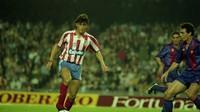 Luis Enrique se enfrentó al Barça en la temporada 1990-91 en el Camp Nou cuando era jugador del Sporting