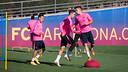 Los jugadores del filial ya preparan el partido del sábado. FOTO: GERMÁN PARGA / FCB