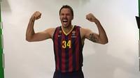 Bostjan Nachbar ha participado de la sesión fotográfica que ha hecho el primer equipo de baloncesto