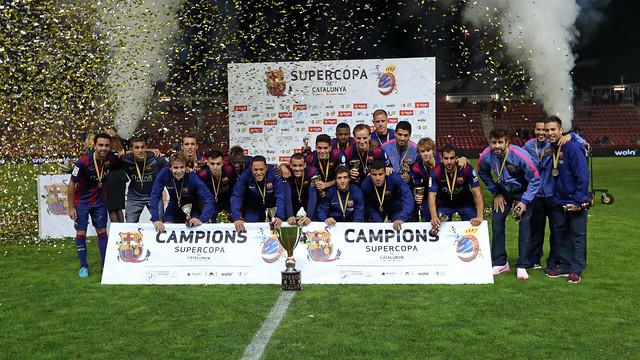 El Barça, campió de la Supercopa de Catalunya. FOTO: MIGUEL RUIZ-FCB.