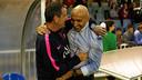 Abelardo spoke to Busquets senior before the game / PHOTO: MIGUEL RUIZ - FCB