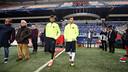 Neymar Jr i Leo Messi trepitgen la gespa de l'Amsterdam Arena / FOTO: MIGUEL RUIZ - FCB