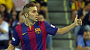Usín vol  estrenar-se com a golejador culer a la Copa del Rei / Foto: Arxiu FCB
