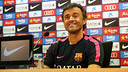Luis Enrique in the press conference / PHOTO: MIGUEL RUIZ - FCB