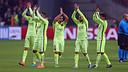 Le Barça jouera avec le maillot jaune à Almeria / PHOTO: MIGUEL RUIZ - FCB