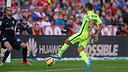 Jordi Alba scored the game winner on a wonderful assist from Luis Suárez / PHOTO: MIGUEL RUIZ-FCB