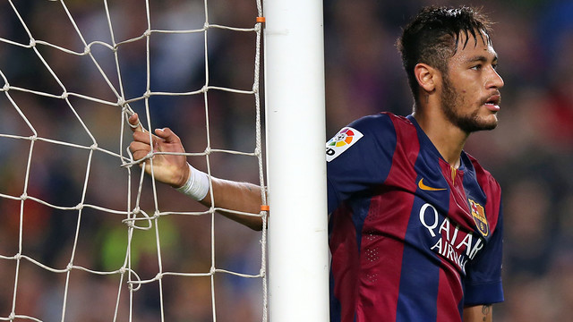 Neymar has hit the woodwork twice this season. PHOTO: MIGUEL RUIZ-FCB.