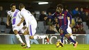 Dongou against Numància  earlier this season/  FCB ARCHIVE
