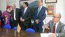 El vicepresident Jordi Cardoner ha presidit els actes de celebració del 25è aniversari de la PB de Puig-Reig / FOTO: VÍCTOR SALGADO - FCB