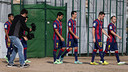 The players carry out various promotional activities / PHOTO: MIGUEL RUIZ - FCB