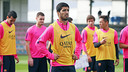 Luis Suárez and the rest of the Barça squad with their minds firmly fixed on Saturday's clash with Sevilla / PHOTO: MIGUEL RUIZ -FCB
