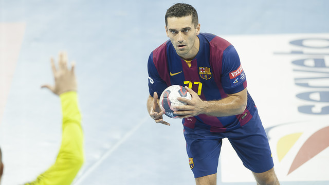 Lazarov màxim golejador del Barça d'handbol a Champions amb 36 gols / FOTO: VÍCTOR SALGADO-ARXIU FCB