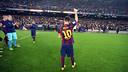 Leo Messi, agradecido al Camp Nou / FOTO: MIGUEL RUIZ-FCB