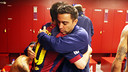 Xavi congratulated Messi on his record after the game / PHOTO: MIGUEL RUIZ - FCB