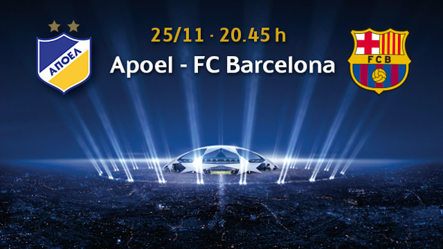 APOEL and FC Barcelona meet in Cyprus on Tuesday / PHOTO: FCB photomontage