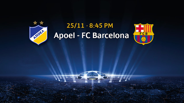APOEL-FCB on Tuesday at 8:45PM CET / PHOTOMONTAGE - FCB