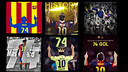The fans pay tribute to Messi